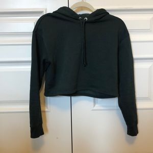 Cropped Hoodie | forest green